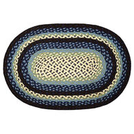 Capitol Earth Oval Blueberry/Cream Braided Rug