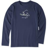 Life is Good Boy's Hockey Jake Vintage Crusher Long-Sleeve Shirt