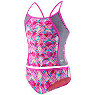 Speedo Girl's Rhythmic Tie Dye Two-Piece Tankini