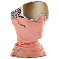 Anon Women's WM1 Snow Goggle + Spare Lens + MFI Facemask