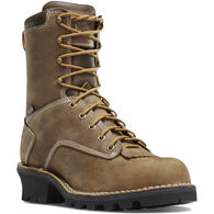 "Danner Men's Logger 400g Insulated Non-Metallic Toe 8"" Waterproof Work Boot"