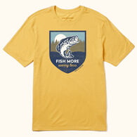 Life is Good Men's Fish More Worry Less Cool Tee Short-Sleeve T-Shirt