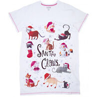 Hatley Women's Santa Claws Sleepshirt