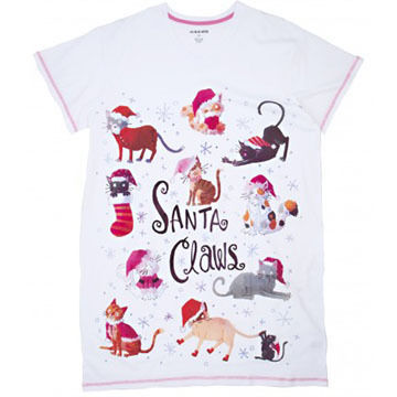 Hatley Womens Santa Claws Sleepshirt