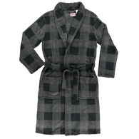 Lazy One Men's Grey Plaid Robe