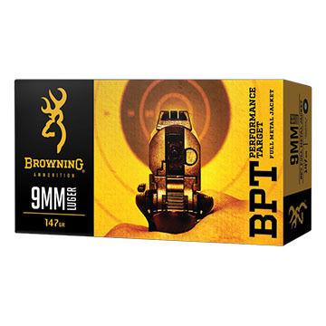Browning BPT Performance Target 40 S&W 180 Grain FMJ Handgun Ammo (50)