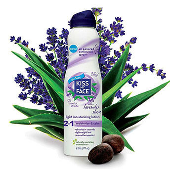 Kiss My Face All-Natural 2 in 1 Lavender Shea Light Moisturizing Continuous Spray