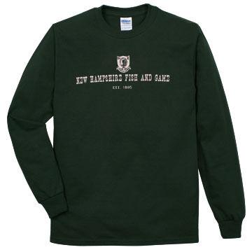 NH Fish and Game Mens Badge Long-Sleeve T-Shirt