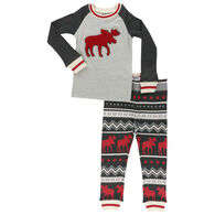 Lazy One Toddler Cabin Long-Sleeve Pajama Set