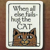 "Spooner Creek ""Hug The Cat"" Magnet"
