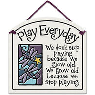 "Spooner Creek Designs ""Play Everyday"" Small Arch Tile"
