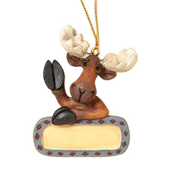 Big Sky Carvers Waving Moose Ornament
