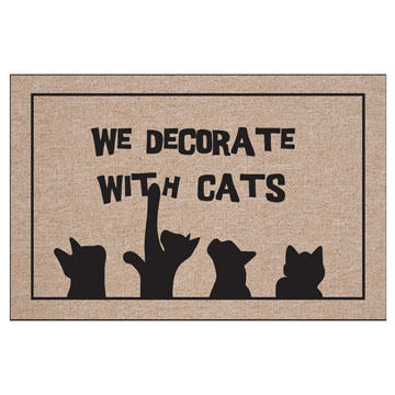 High Cotton Doormat - We Decorate With Cats