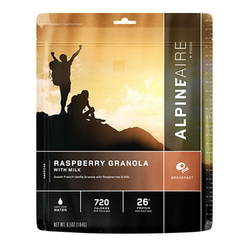 AlpineAire Raspberry Granola w/ Milk - 2 Servings