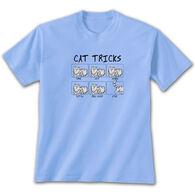 Earth Sun Moon Trading Women's Cat Tricks Short-Sleeve T-Shirt