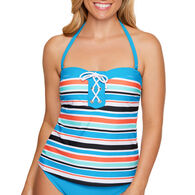 Sol Collective Women's Striped Tankini Swimsuit Top