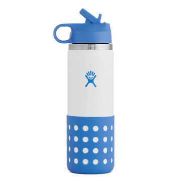 Hydro Flask Childrens 20 oz. Wide Mouth Insulated Bottle w/ Straw Cap & Flex Boot