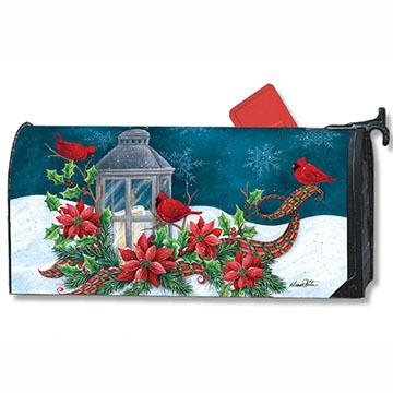 MailWraps Cardinal Christmas Mailbox Cover