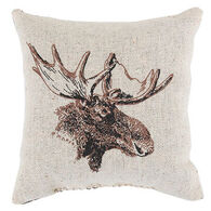 "Maine Balsam Fir 4"" x 4"" Small Moose Pillow"