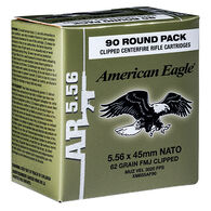 American Eagle 5.56x45mm 62 Grain FMJ Clipped Rifle Ammo (90)