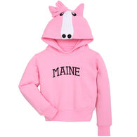 Wild Child Hoodies Girl's Pink Horse Sweatshirt
