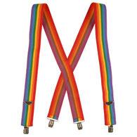 Jackster Men's Rainbow Stripe Suspenders