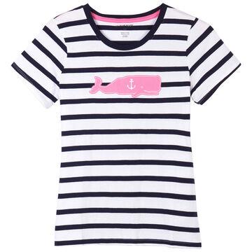 Hatley Little Blue House Womens Whales Pajama Short-Sleeve T-Shirt