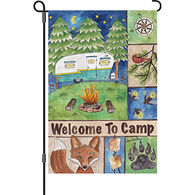 Premier Designs Welcome To Camp Garden Flag