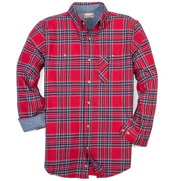 Backpacker Mens Yarn Dyed Flannel Long-Sleeve Shirt
