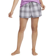 Life is Good Women's Grey Grape Plaid Classic Sleep Boxer