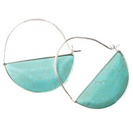 Scout Curated Wears Women's Stone Prism Hoop - Turquoise/Silver