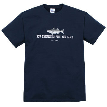 NH Fish and Game Mens Striper Short-Sleeve T-Shirt