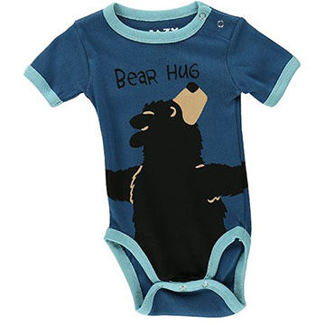 Lazy One Infant Boys Bear Hug Creeper