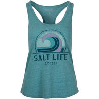 Salt Life Women's Retro Wave Tri-Blend Tank Top