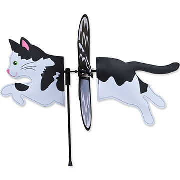 Premier Designs Petite Black And White Cat Spinner