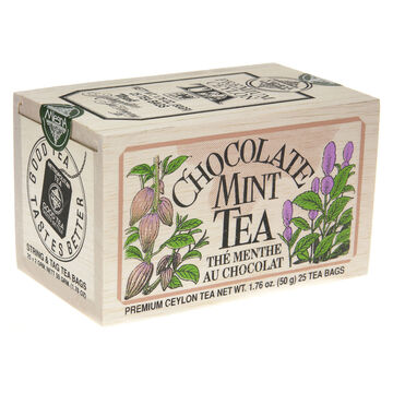 Metropolitan Chocolate Mint Tea Soft Wood Chest, 25-Bag