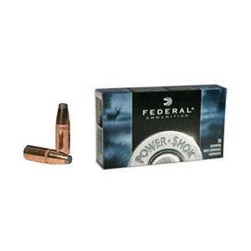 Federal Power-Shok 7mm Mauser (7x57mm Mauser) 175 Grain Soft Point RN Rifle Ammo (20)