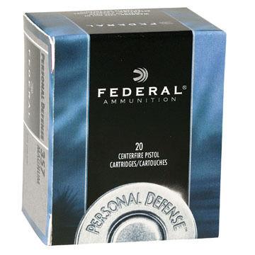 Federal Personal Defense Revolover 32 H&R Magnum 85 Grain JHP Handgun Ammo (20)