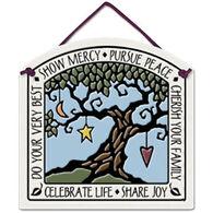 "Spooner Creek ""Celebrate Life"" Small Arch Tile"