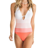Southern Tide Women's Carmelina Pink Ombre One Piece Swimsuit