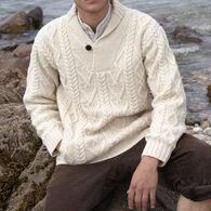 Aran Crafts Men's Dublin Shawl Collar Sweater