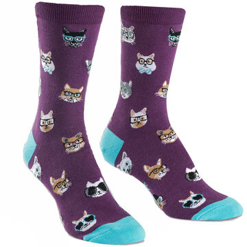 Sock It To Me Womens Smarty Cats Sock