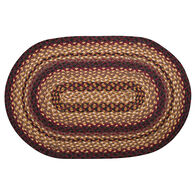 Capitol Earth Oval Black Cherry/Chocolate/Cream Braided Rug