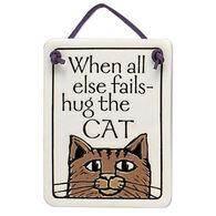 """Spooner Creek """"Hug the Cat"""" Mini Charmer Tile"""