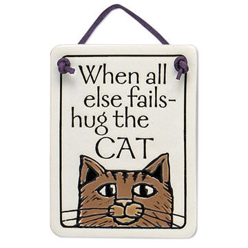 "Spooner Creek ""Hug the Cat"" Mini Charmer Tile"