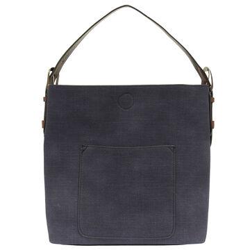 Joy Susan Womens Faux Linen Hobo Handbag