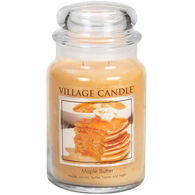 Village Candle Large Glass Jar Candle - Maple Butter