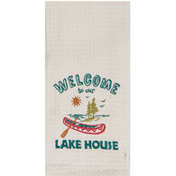 Kay Dee Designs Welcome To Lake House Embroidered Waffle Towel