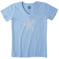 Life is Good Women's Mosaic Starfish Crusher Vee Short-Sleeve T-Shirt