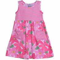 Flap Happy Toddler Girl's Dahlia Sleeveless Tee Dress